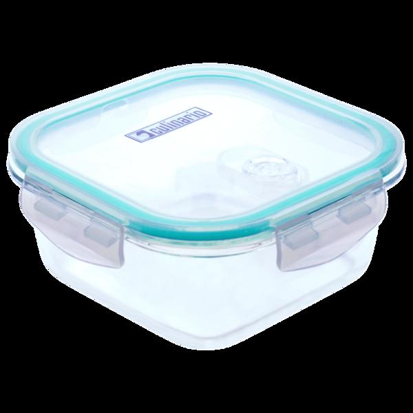 Steuber Frischhaltedose Glas quadratisch mit Mikrowellendeckel 800ml