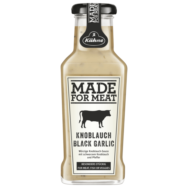 Kühne Würzsauce Made for Meat Black Garlic 235ml