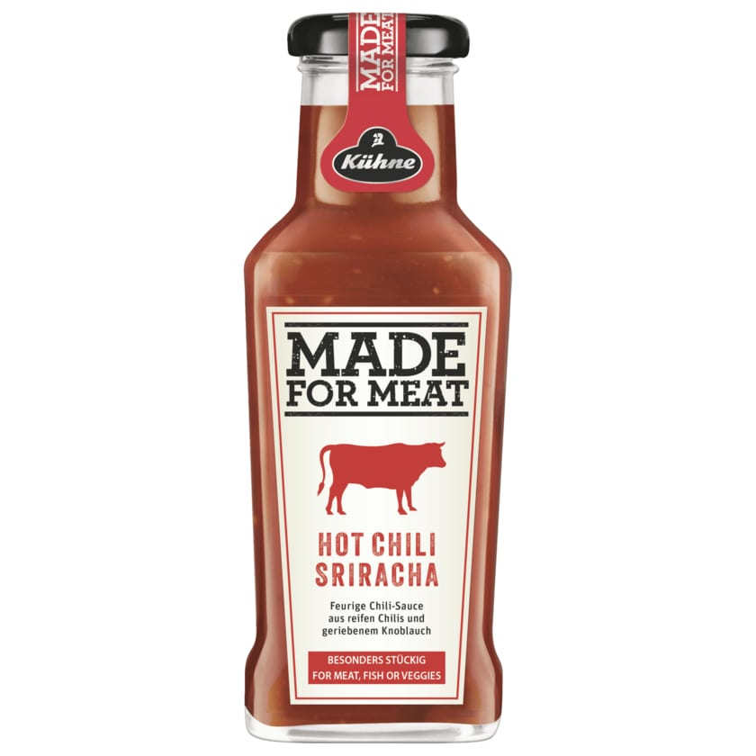 Kühne Würzsauce Made for Meat Sriracha Hot Chili, 235ml