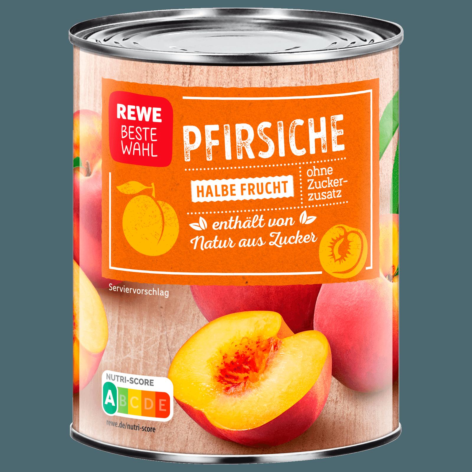 REWE Beste Wahl Pfirsiche Halbe Frucht 230ml