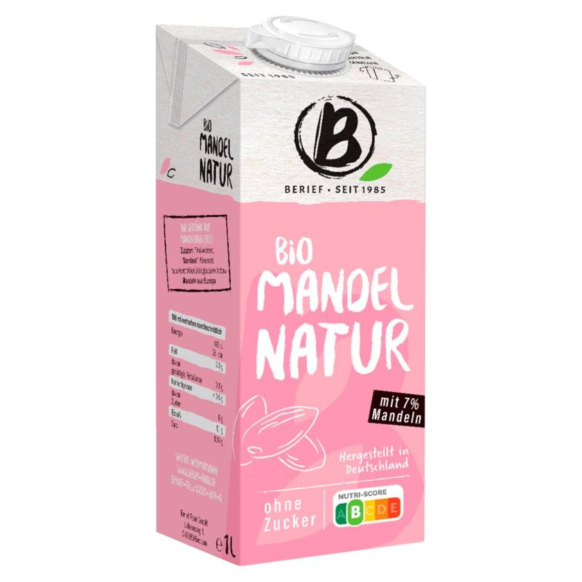 Berief Bio Mandel Drink ungesüßt vegan 1l
