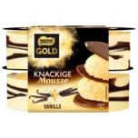 Nestle Gold Knackige Mousse Vanille 4x75g Becher