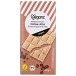 Veganz Weiße Bio Reis-Schokolade mit Kaffeebohnen-Splittern 80g