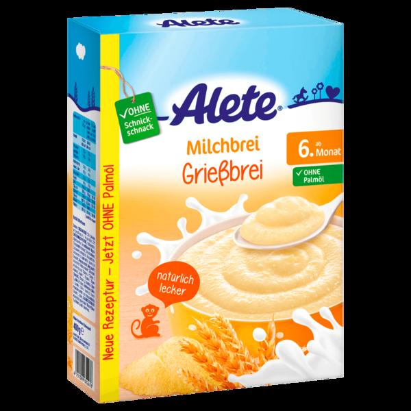Alete Milchbrei Grießbrei ab 6. Monat 400g