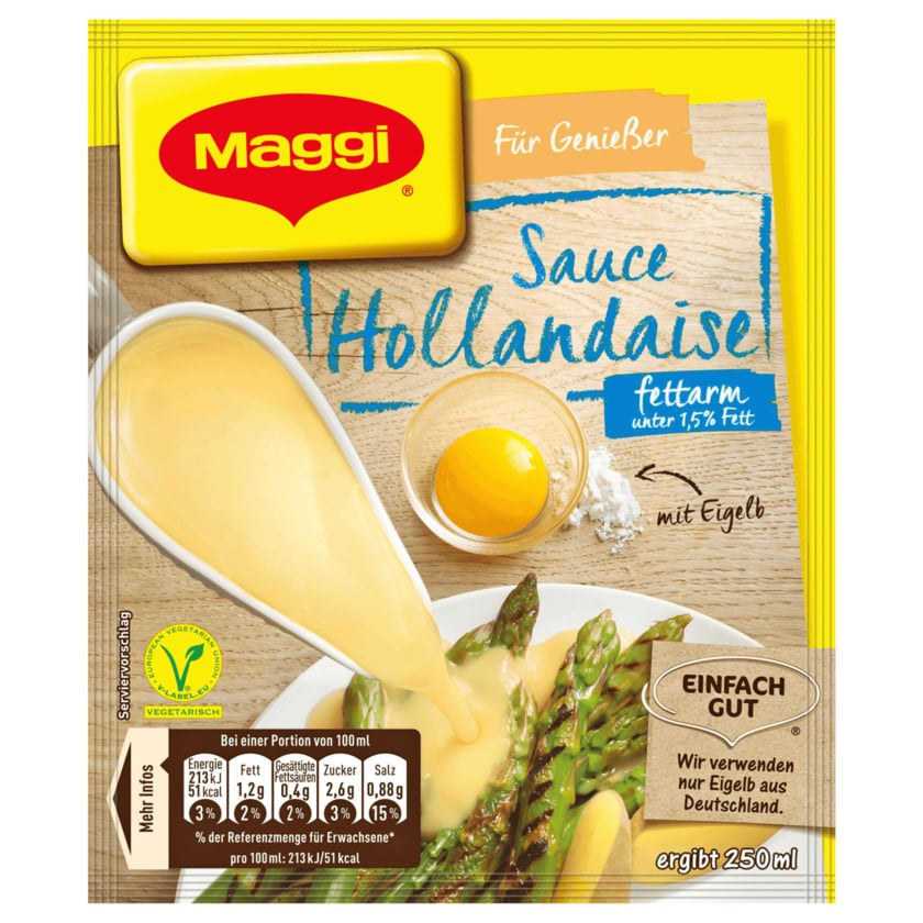 Maggi für Genießer Sauce Hollandaise fettarm, ergibt 250ml