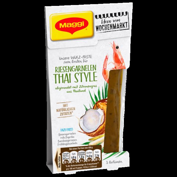 Maggi Würz-Paste zum Braten für Riesengarnelen Thai Style abgerundet mit Zitronengras aus Thailand 88ml