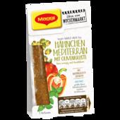 Maggi Würz-Mix für Hähnchen Mediterran mit Olivenkruste fein würzig mit Basilikum 40g