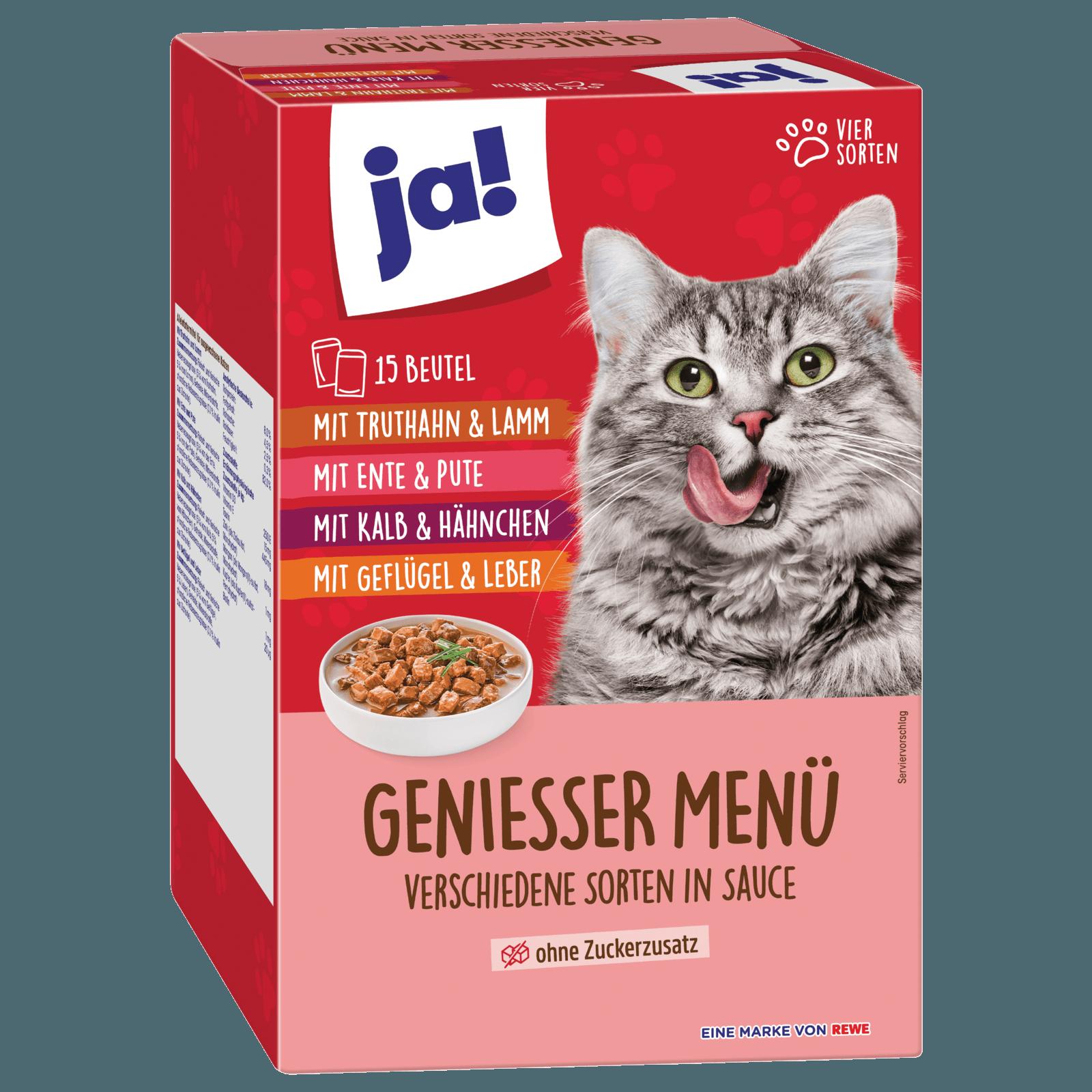 ja! Genießer-Menü Multipack Fleisch 15x100g