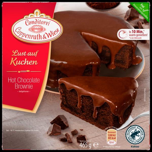Conditorei Coppenrath und Wiese Lust auf Kuchen Hot Chocolate Brownie 465g