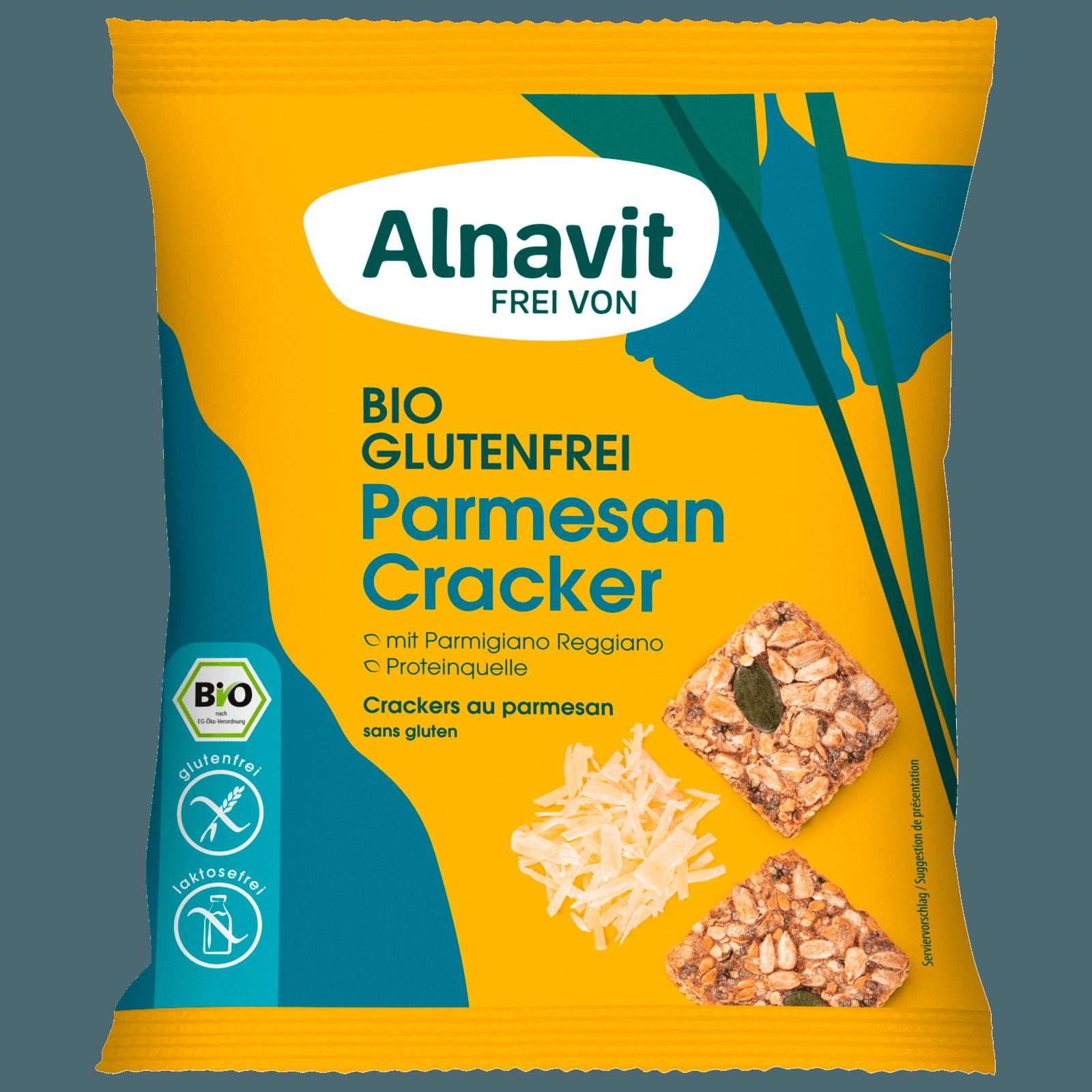Alnavit Bio Parmesan Cracker glutenfrei 75g