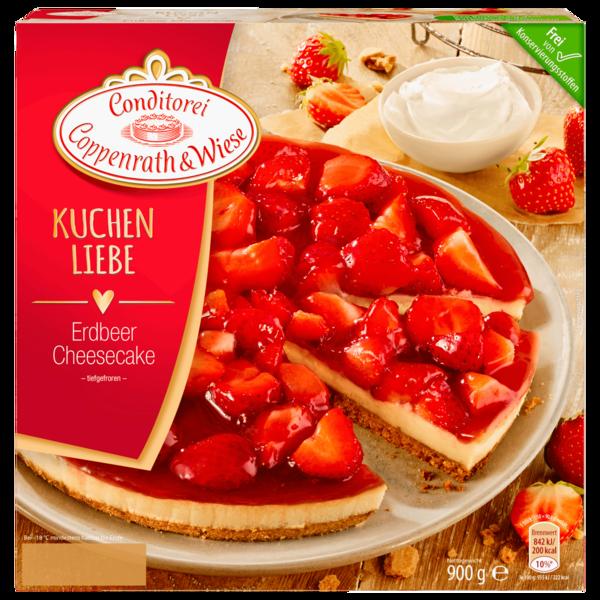 Conditorei Coppenrath und Wiese Kuchen Liebe Erdbeer Cheescake 900g