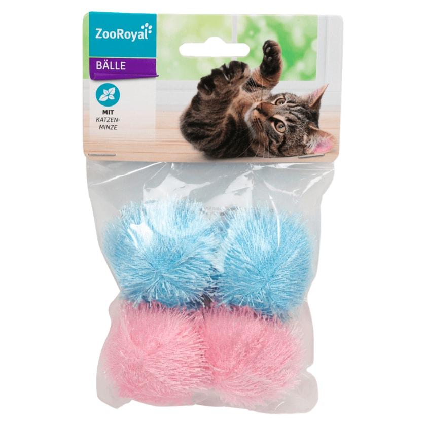 ZooRoyal Bälle mit Katzenminze 4 Stück