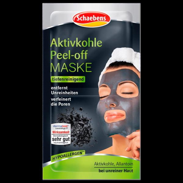 Schaebens Aktivkohle Peel-Off Maske 2x8ml