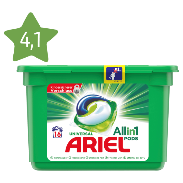 Ariel Vollwaschmittel all-in-1 Pods 480g, 16WL