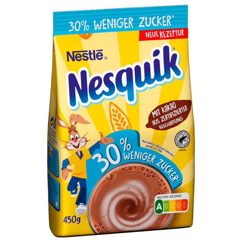 Nestlé Nesquik kakaohaltiges Getränkepulver zuckerreduziert mit Ballaststoffen 450g