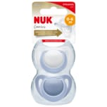Nuk Genius Orthodontic plus Silicone 0-6 Monate 2 Stück