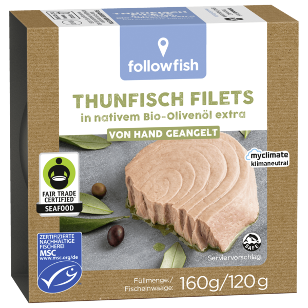 Followfish Thunfisch Filets in nativem Bio-Olivenöl extra 120g