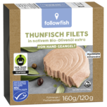 Followfish Thunfisch Filets in nativem Bio-Olivenöl extra 120g