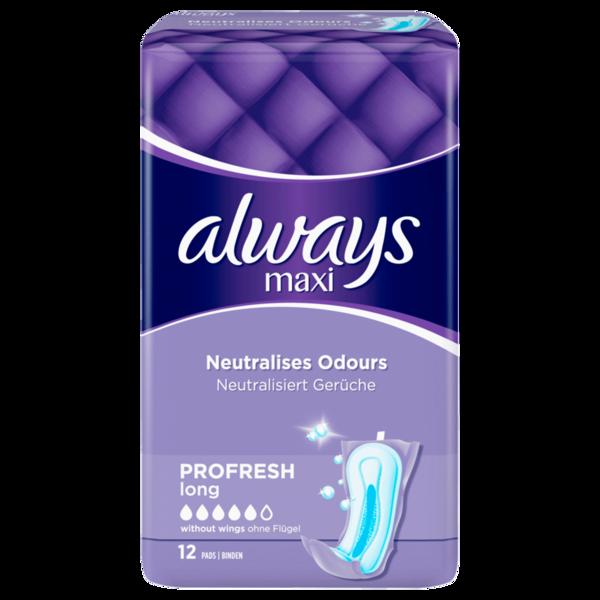Always Damenbinden Maxi Profresh long 12 Stück