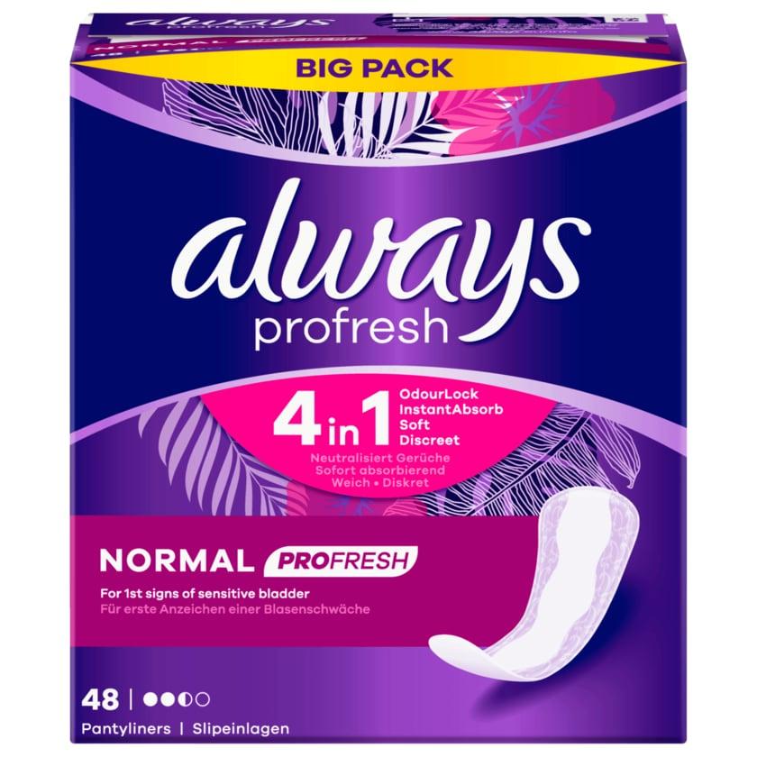 Always Dailies Profresh Normal Slipeinlagen Big Pack 48 Stück