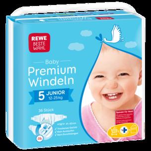 REWE Beste Wahl Windeln Junior 5 12-25 Kg 36 Stück
