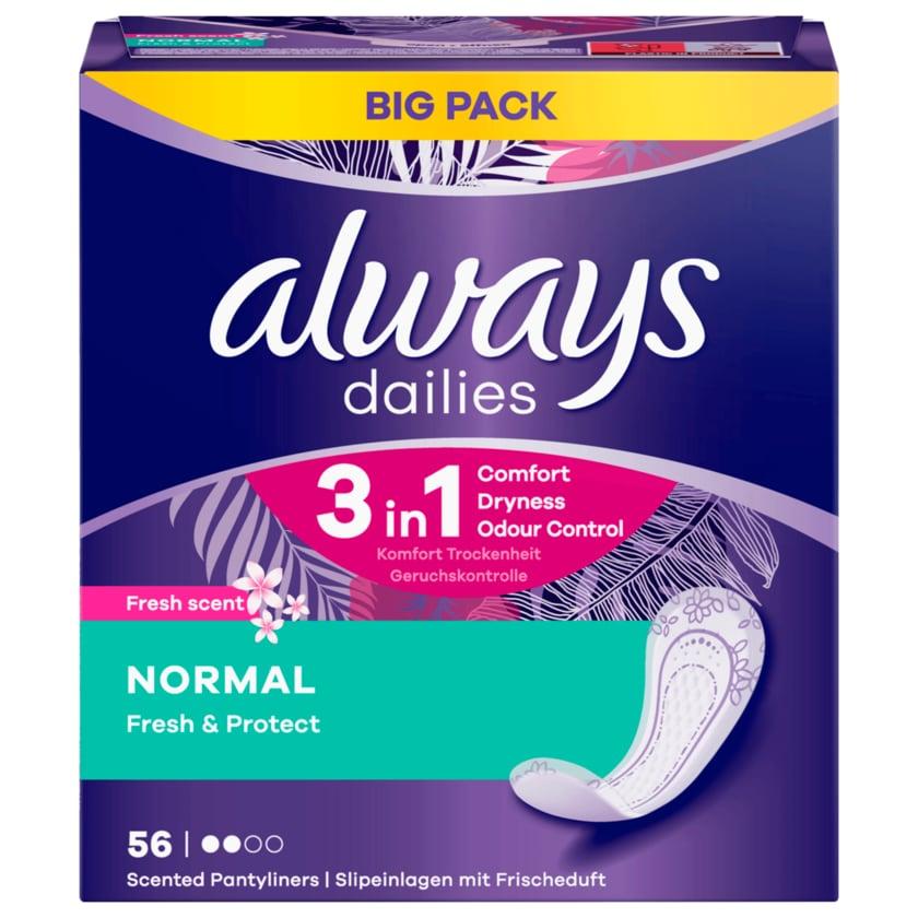 Always Slipeinlagen Fresh&Protect Normal 56 Stück