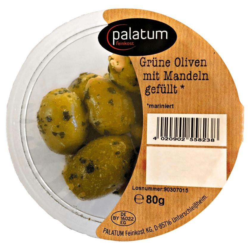 Palatum Grüne Oliven mit Mandeln gefüllt 80g