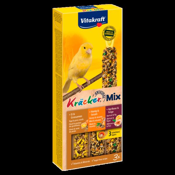 Vitakraft Kräcker Trio Ei/Frucht/Honig Kanarien 3 Stück