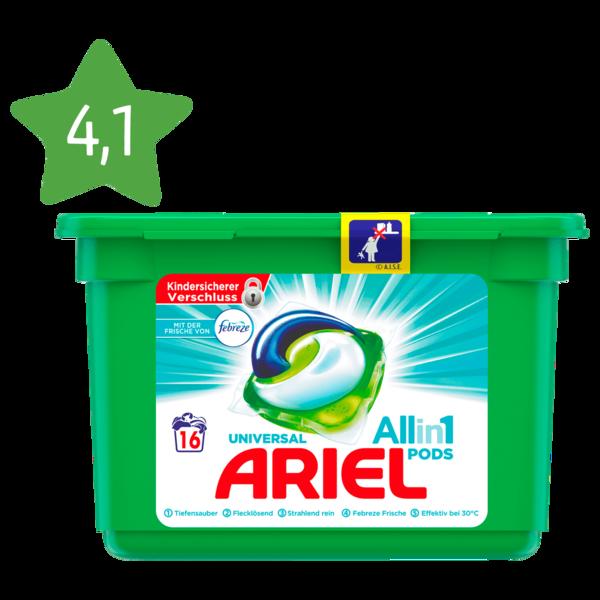 Ariel Vollwaschmittel 3in1 Pods Febreze 423g, 16WL