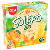 Solero Bio Juicy Peach Familienpackung Eis 5 x 52 ml