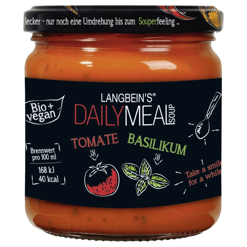 Langbein's Bio Daily Meal Soup Tomate-Basilikum 350ml