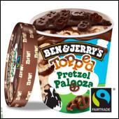 Ben & Jerry's Topped Pretzel Palooza Eis 470 ml