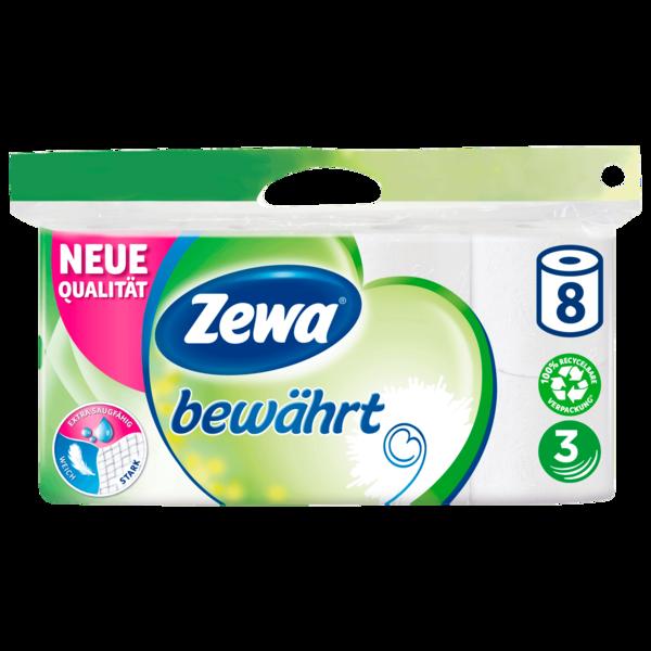Zewa Toilettenpapier bewährt weiß 8x150 Blatt