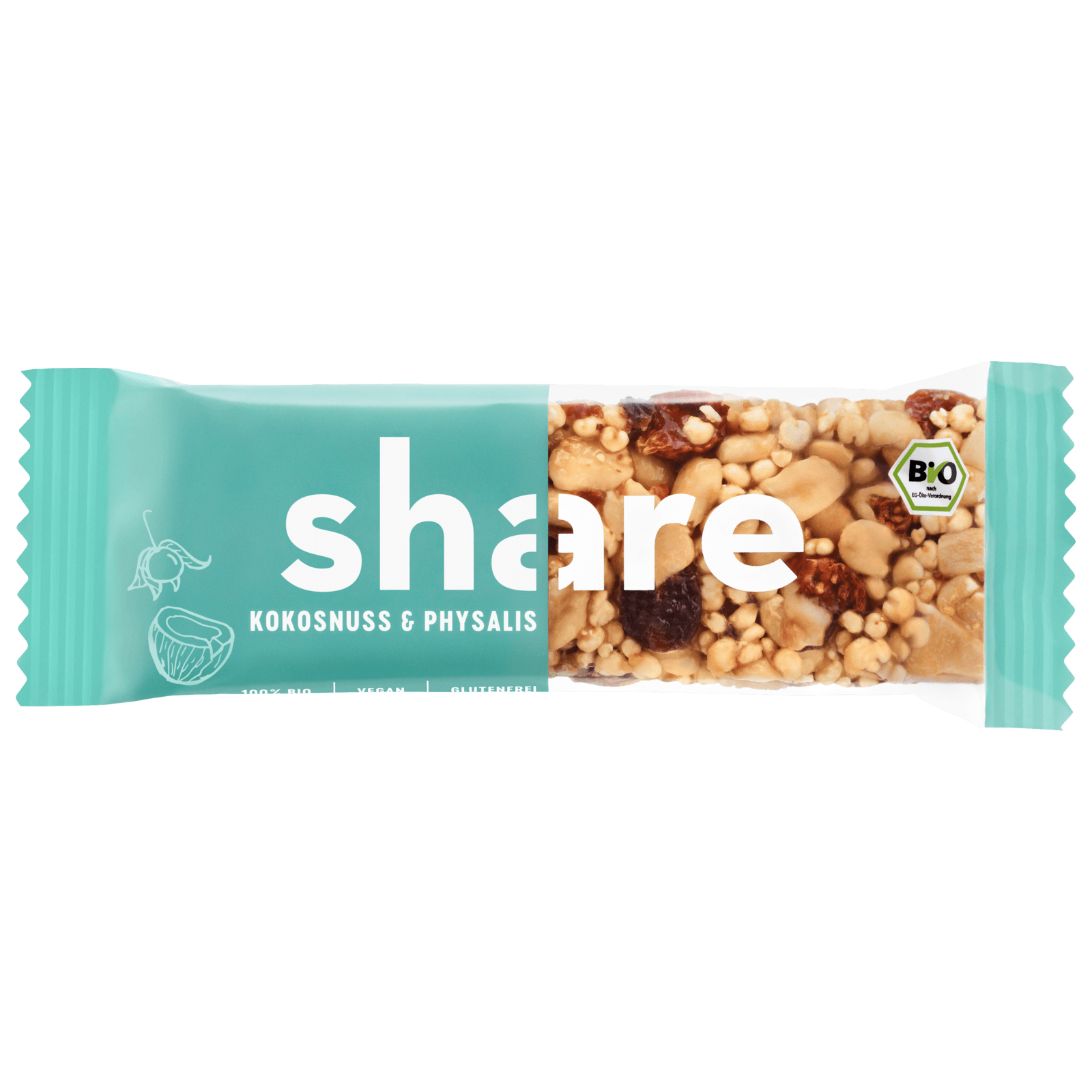 Share Bio-Nussriegel Kokos & Phsysalis 35g