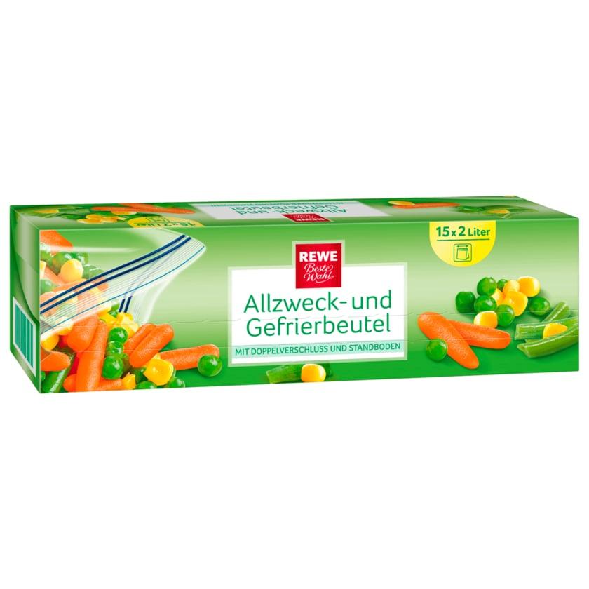 REWE Beste Wahl Allzweck- und Gefrierbeutel 2l