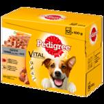Pedigree Hundefutter Pastete Rind und Huhn 12x100g