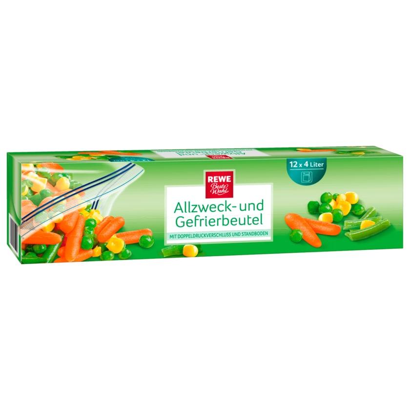 REWE Beste Wahl Allzweck- und Gefrierbeutel 12x4l