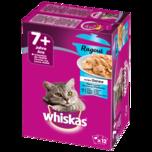 Whiskas Katzenfutter 7+ Ragout Fischauswahl in Gelee 12x85g