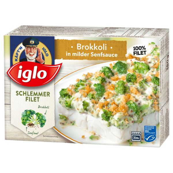 iglo schlemmerfilet brokkoli in milder senfsauce 380g bei rewe online bestellen. Black Bedroom Furniture Sets. Home Design Ideas