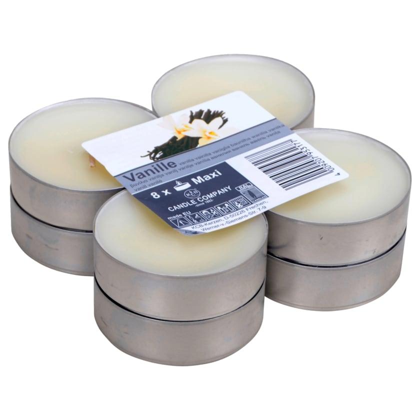 Maxi Teelichter Vanille 8 Stück