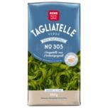 REWE Beste Wahl Tagliatelle aus Hartweizengrieß mit Spinat 500g
