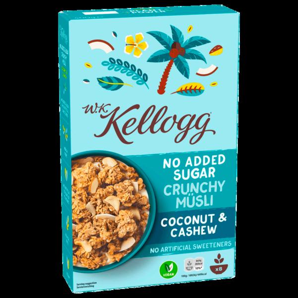 W. K. Kellogg No Added Sugar Crunchy Müsli Coconut & Cashew 400g