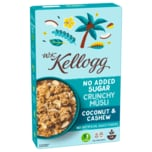 W. K. Kellogg No Added Sugar Crunchy Müsli Coconut & Cashew 400g