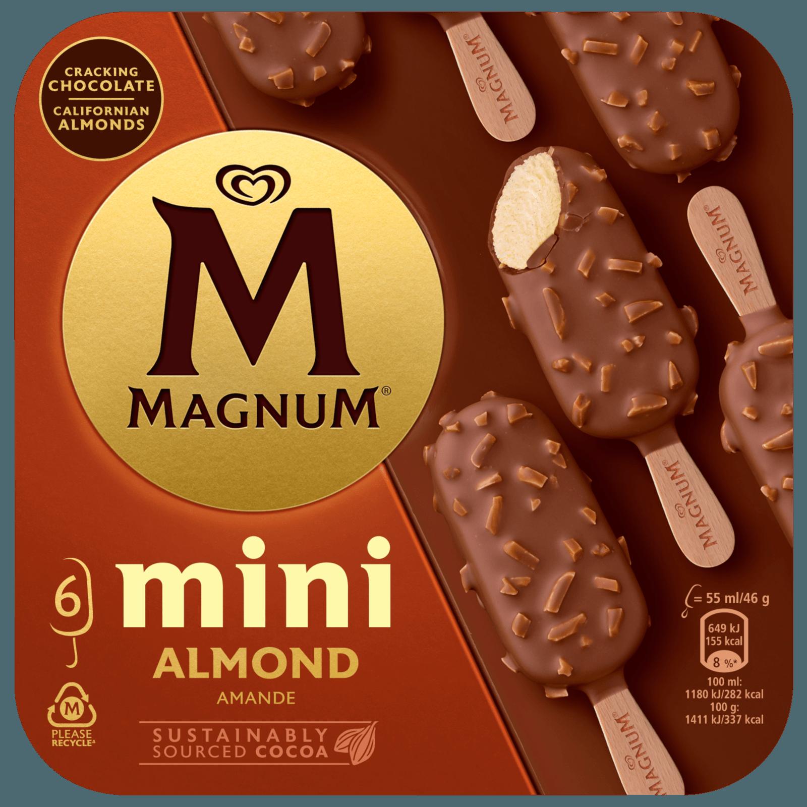 Magnum Mini Almond Familienpackung Eis 6 x 55 ml