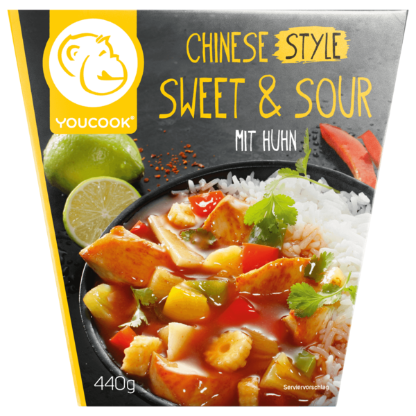Youcook Chinesisch Sweet & Sour Huhn 420g
