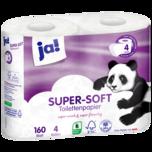 jA! Luxus Toilettenpapier 4-lagig 4x160 Blatt