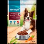 Zooroyal Hundefutter saftige Ringe Rind 1,5kg