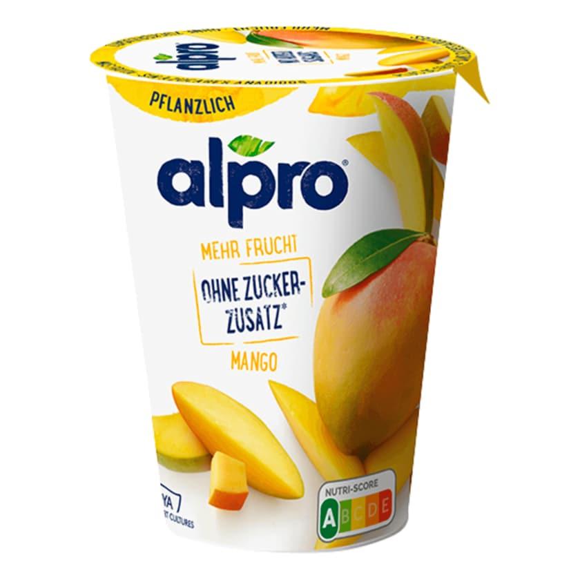 Alpro Soja-Joghurtalternative Mango mehr Frucht & Ohne Zuckerzusatz vegan 400g