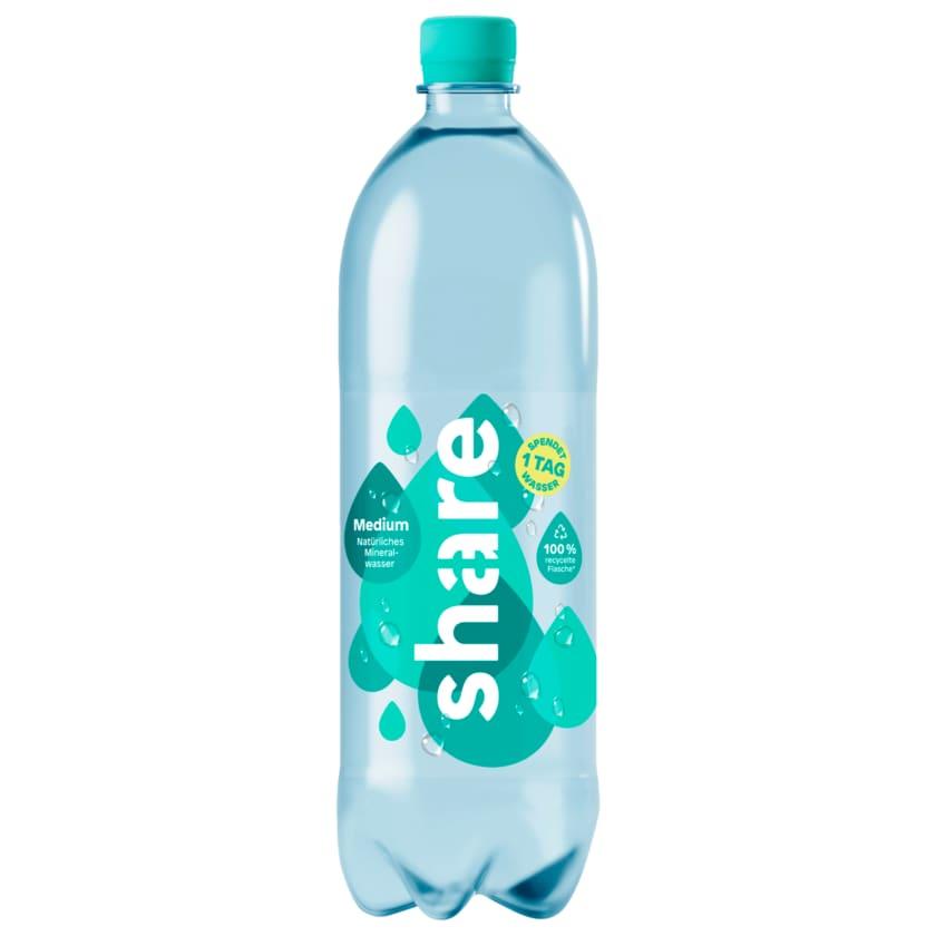 Share Natürliches Mineralwasser Medium 1l