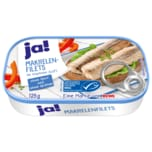 ja! Makrelenfilets in eigenen Saft ohne Haut & ohne Gräten MSC 125g